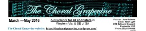 Choral Grapevine December 2007
