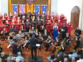 The choir and orchestra under the baton of Allister Cox