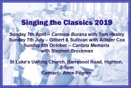 2019 Singing the Classics poster